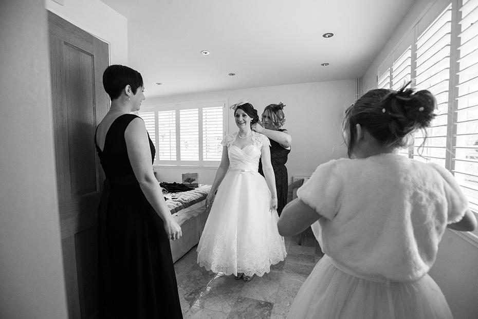 wedding photographer the gardens Yalding Kent