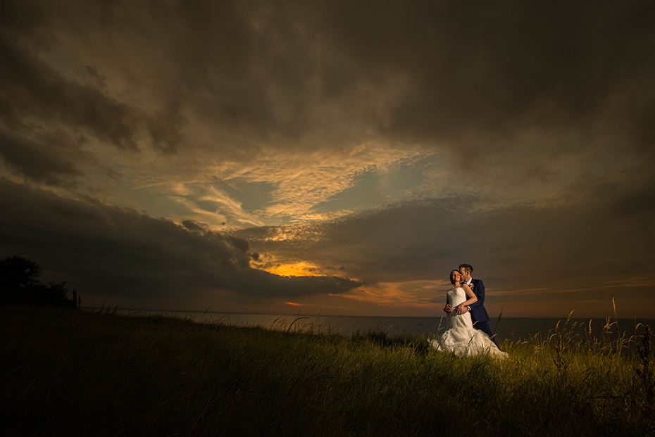 Sunset wedding photography Thanet St Augustines