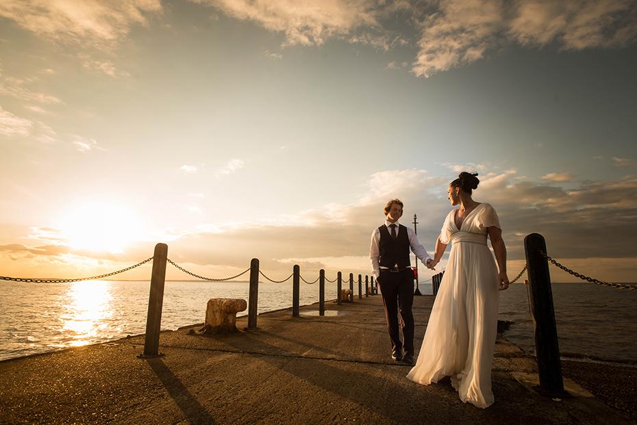 Wedding photographers East Quay